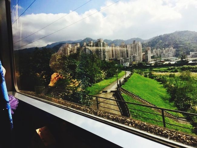 Beauty Train Window Taiwan Traveling Imagination Relaxing Moments
