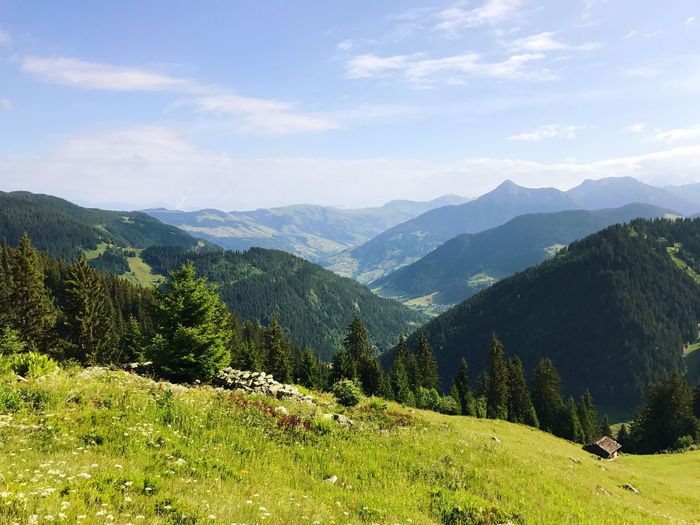 Meadow France Alps Mountain Range Mountain Nature Hiking Beauty In Nature Sky Adventure Landscape Peak No People Outdoors Grass Day