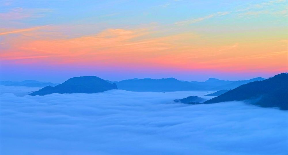 Loei Loei,thailand Mountain Nature Outdoors Rising Sun Scenics Sky Sunrise Sunrising