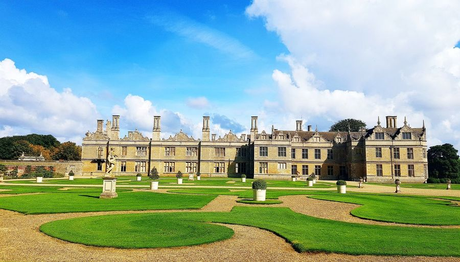 Kirby Hall Northamptonshire Architecture Built Structure Building Exterior Cloud - Sky History No People