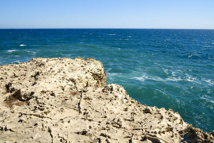 Apúlia Beach Beauty In Nature Blue Clear Sky Day Horizon Over Water Italy Lecce Melendugno Nature No People Outdoors Puglia Rock - Object Salento Salento Puglia Scenics Sea Sky Tranquil Scene Tranquility Travel Destinations Water Wave
