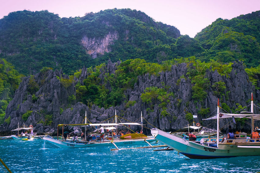 ASIA Philippines Beach Beauty In Nature Blue Water Cliff Landscape Nature Outdoors Scenery Sea Water