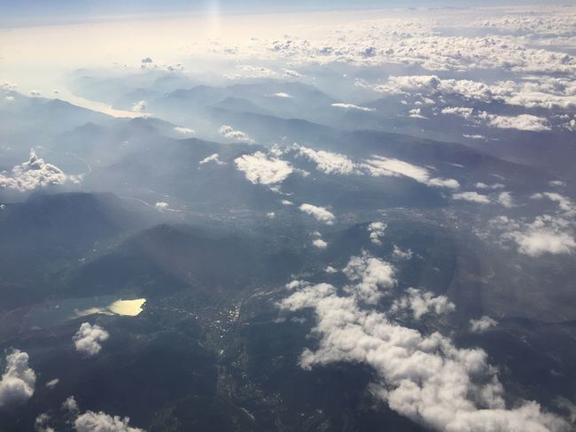 Scenics Aerial View Beauty In Nature Tranquil Scene Tranquility Cloudscape Backgrounds Cloud - Sky Nature Majestic White Color Idyllic White Environment Day Cloud Non-urban Scene Sky Blue Sky Only Alps