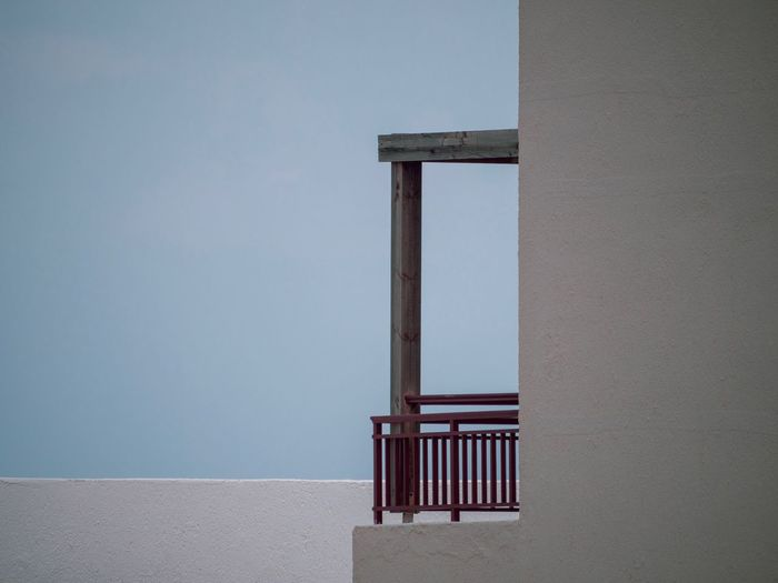 Balkon Lumix G9 Architecture No People Wall - Building Feature Built Structure Day Nature Sky Outdoors Clear Sky Seat Simplicity