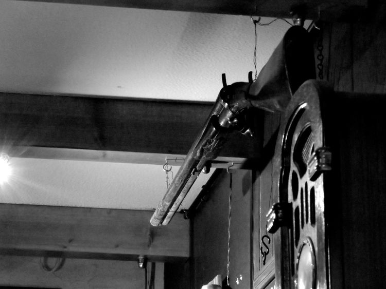 Abandoned Absence Artistic Check This Out Cropped Destruction Details EyeEm Best Shots Flooring Hanging From The Ceiling Indoors  Learn & Shoot: After Dark Looking Up Metal Metallic Obsolete Old Radio Old-fashioned Part Of Railing Ruined Shotgun Technology Vintage Wall