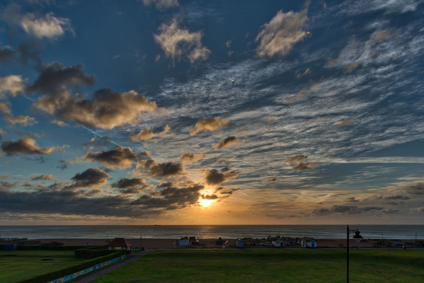 Aurora 2018 HDR Morning Light Morning Sky Walimex 12mm Beach Beauty In Nature Cloud - Sky Day Grass Horizon Over Water Nature No People Outdoors Scenics Sea Sky Sun Sunset Tranquil Scene Tranquility Water