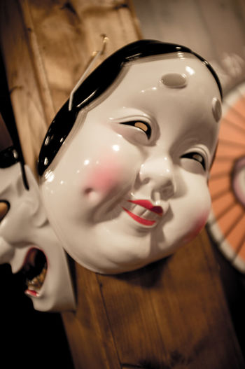 Japan Noh Old-fashioned Mask 女面具 能劇 能劇面劇