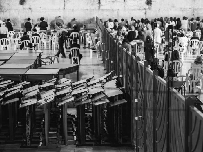 Separation Jerusalem Praying Religion Religious  Religion And Beliefs Separation Fence Blackandwhite Bnw Group Of People Unrecognizable Person Unrecognizable People Rear View Western Wall Spirituality Temple - Building Place Of Worship Faith Worshipper