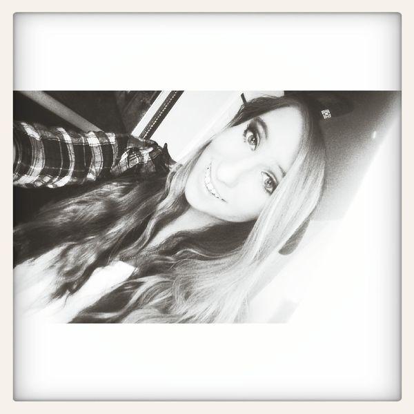 Wearing his hat<<<3 SNAPBACK♡ Smile :) Selfie ✌ Blonde ♡