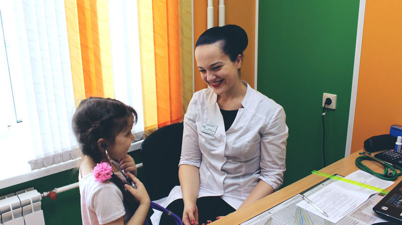 Child Happy Happy People Hospital Hospital Life Hospital Visit Lifestyles Person Russian Girl Smile Standing
