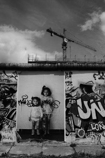 Monochrome Photography City Berlin Wall Urban Berlin Wall Memorial Children Girl