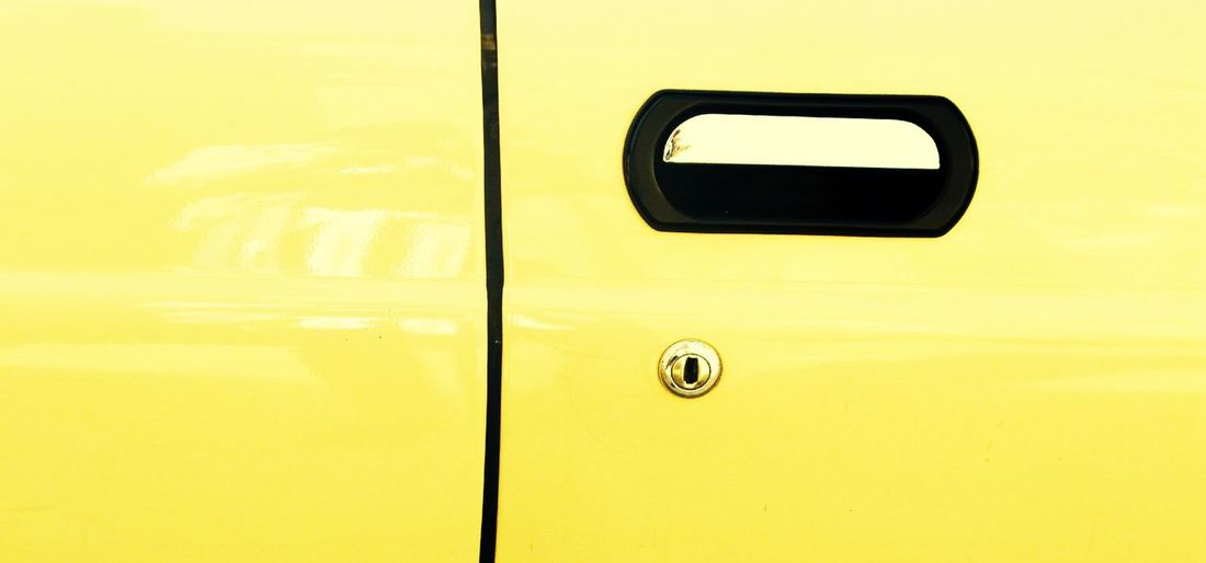 Detail shot of vehicle door