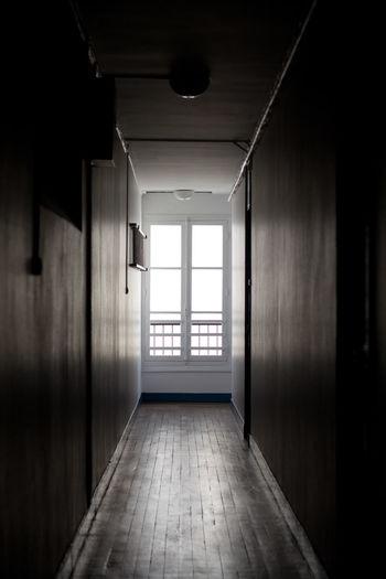 Window at hallway of house
