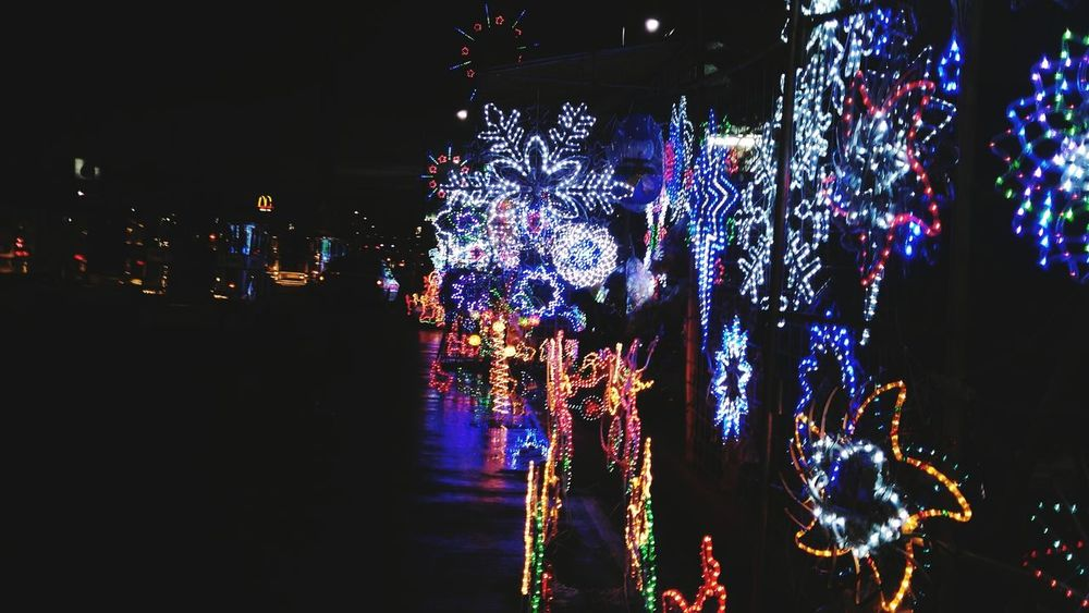 Christmas spirit! Multi Colored Christmas Decoration Illuminated Christmas Christmas Lights Christmas Around The World Christmas Is Coming The Culture Of The Holidays