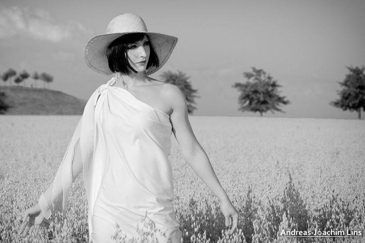 Summer Monochrome Model Portrait Woman