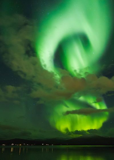 Good night 💚   Night Beauty In Nature Sky Nature Scenics Water No People Green Color Outdoors Lake Tranquility Star - Space Illuminated Aurora Polaris Astronomy Nature Landscape Northern Lights Northern Norway EyeEm Nature Lover Eye4photography  EyeEm Gallery EyeEm Best Shots EyeEm Nature_collection
