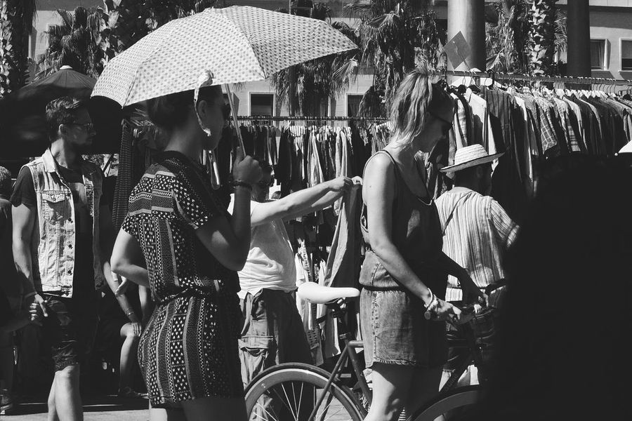 Monochrome Bw_collection Flea Markets Barcelona People Photography Girl