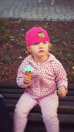Enjoying Life ice cream Relaxing Playing With Colours