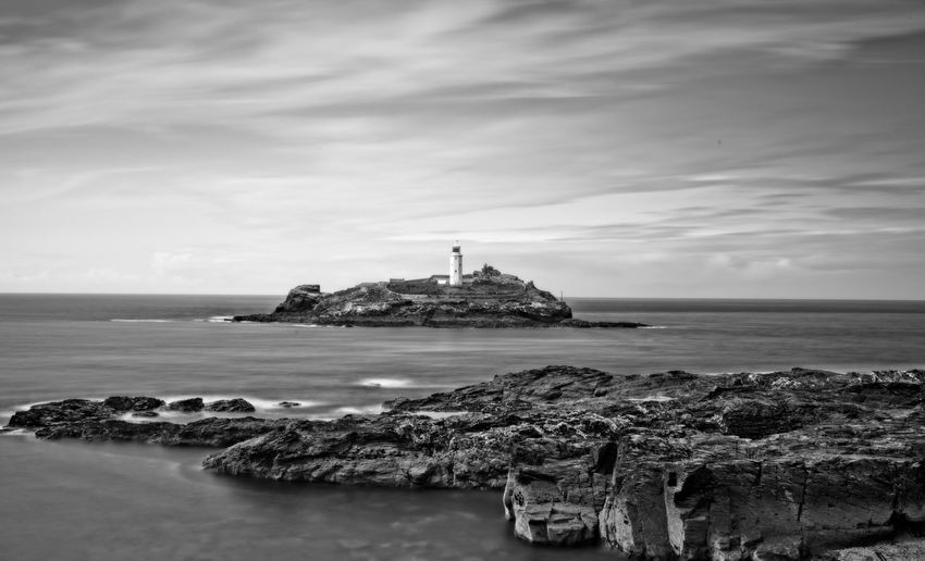 Godrevy light house. Cornwall. Cornwall Lighthouse Godrevy Lighthouse Sea Lighthouse Architecture Water Horizon Over Water Built Structure Rock - Object Sky Nature Building Exterior Tranquility Scenics Cloud - Sky Outdoors Beauty In Nature Travel Destinations Day