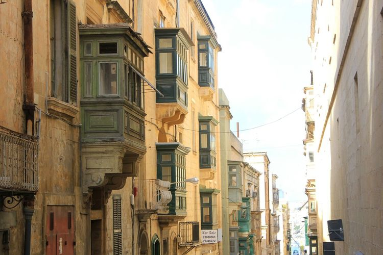 Streetview on Malta Travel Destinations Travel Photography Yellow Color Malta Balkony Balkonyview City Façade Architecture Building Exterior Built Structure Cityscape Urban Scene
