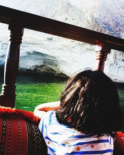 A boat trip to musandam Real People One Person Rear View Lifestyles Day Leisure Activity Childhood