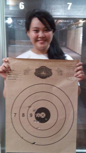 Went Gun Shooting :) Gun Shooting Shooting Range  New Hobby Hobby LOL Gun Throwback Check This Out That's Me Asian