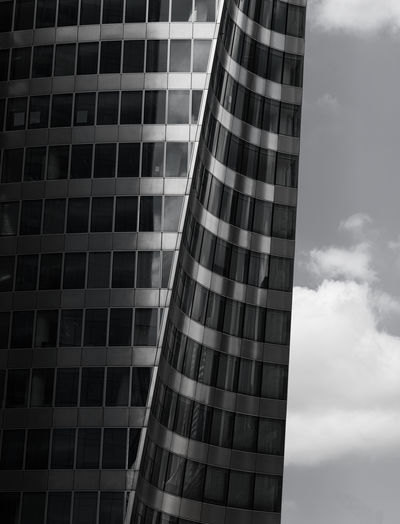 Architecture Black&white Blackandwhite Blackandwhite Photography Blackandwhitephotography Building Building Exterior Built Structure City Cloud - Sky Day Glass - Material Low Angle View Modern No People Office Office Building Exterior Outdoors Pattern Schwarzweiß Schwarzweißfotografie Sky Skyscraper Tall - High Window