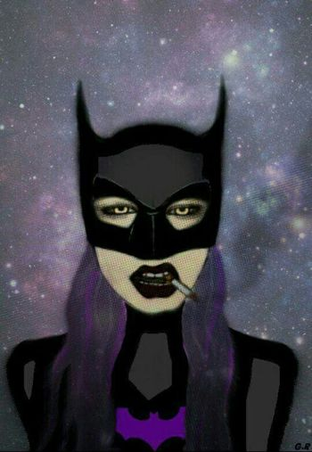 Couldn't find the perfect looking batgirl to me, so i created one 😁 Batgirl Badass Black Sigarette Cool Awesome Art ArtWork Sketch Night