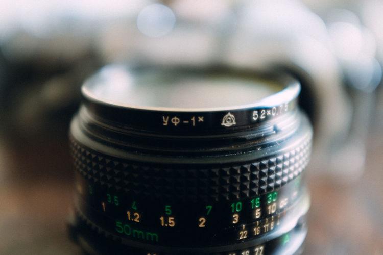 Close-Up Of Digital Camera Lens