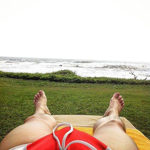 Sunbathing by the ocean Relax Suntanning Sunbathing Beachresort Sea SriLanka Galle Holidays Speedo AussieBum Red Scenery Oceanview Waves Swim Swimwear Swimtrunk Men Scenery Shots Jetsetter Wunderlust Photooftheday Photography Travel