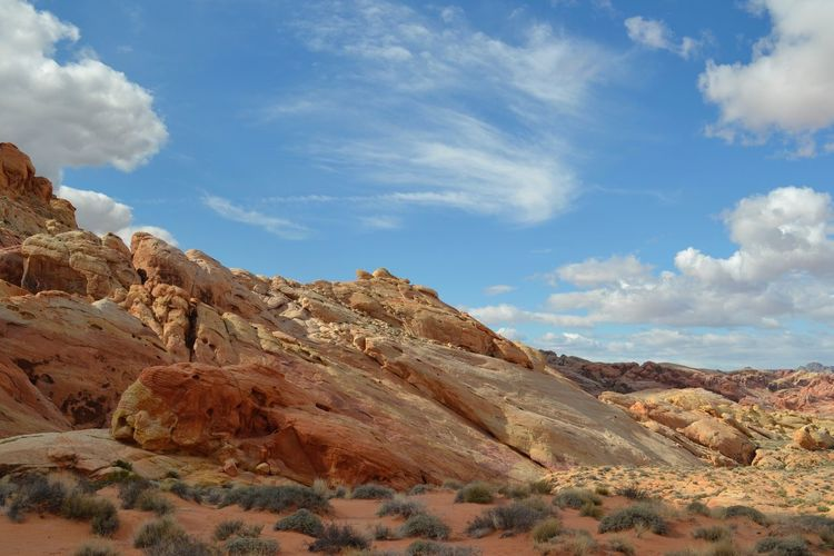 Rock formation at valley of fire state park