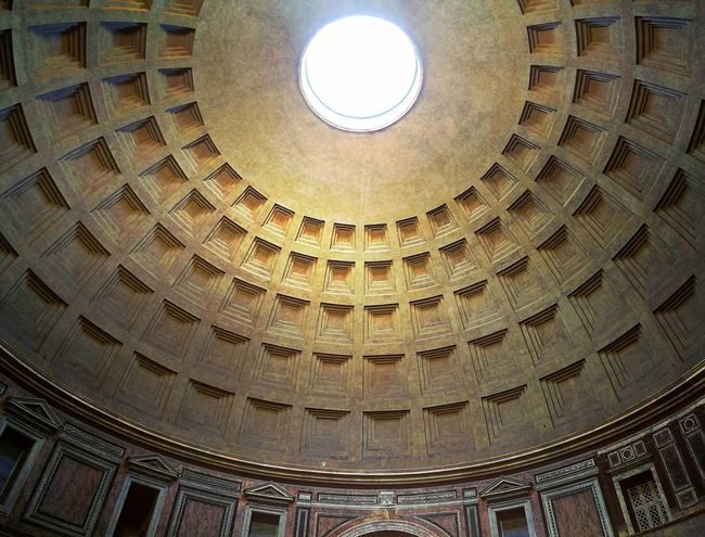 pantheon inside Rome Italy🇮🇹 Travel Beauty Travel Photography Eye4photography  EyeEmNewHere Pantheon City Illuminated Cupola Dome History Architecture Built Structure Moving Around Rome