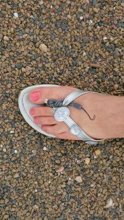 Foot Sandal Pebbles Broken Repair Toes Leg Temporary