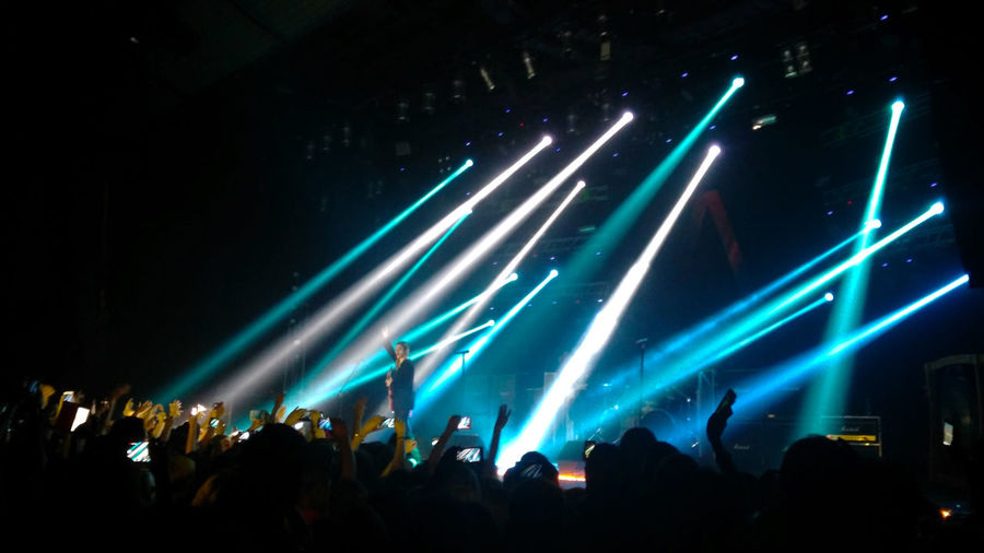 Night Music Stage - Performance Space Popular Music Concert Excitement Audience Large Group Of People Illuminated Technology Nightlife Concerts & Events Concert Lights Music Festival Musical Photos