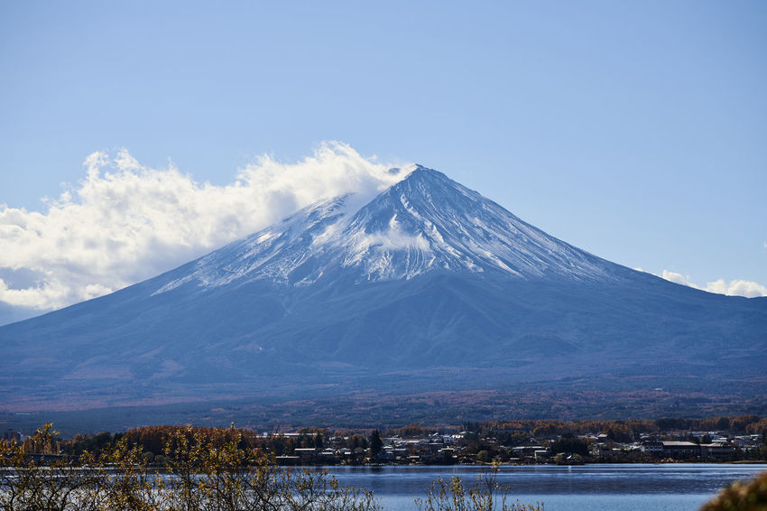 Cloud Mt.Fuji Nature Blue Cloud - Sky Fall Lake Landscape Mountain Sky Snow