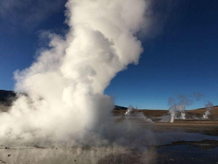 Steam Emitting From El Tatio Geysers