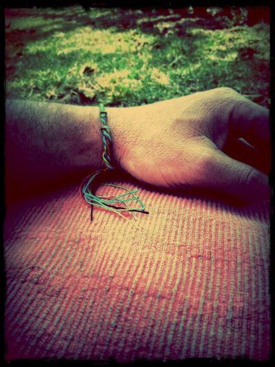 Colored Thread Wrist Outside