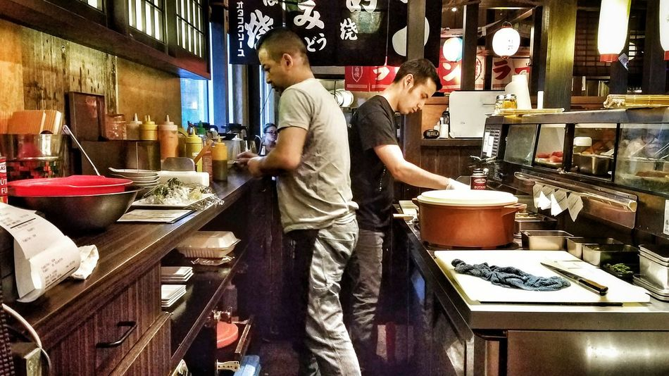 People Together Men At Work  Japanese Restaurant Sushi Bar Japanese Culture