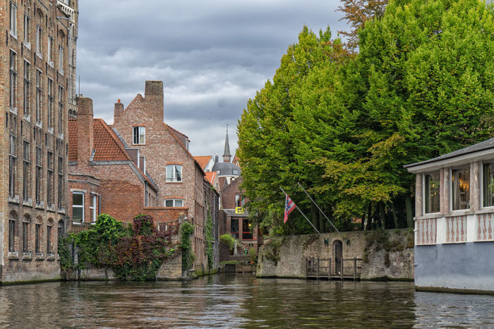 Architecture Beautiful Beauty In Nature Brugge Building Exterior Built Structure Canal Canal Tour Canals Check This Out City Cloud - Sky Day International Landmark Nature No People Outdoors Sky The Drive Travel Destinations Tree Water Your Ticket To Europe