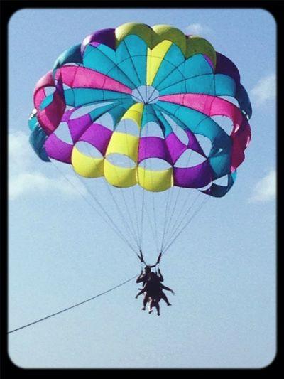 Parasailing Flying Sky Ocean