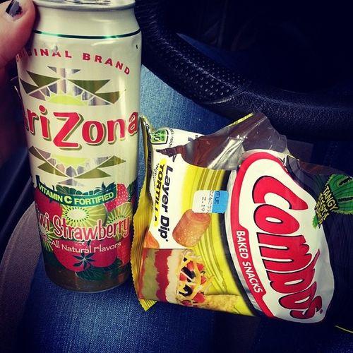 I love afternoon snacks ♥ ArizonaSweetTea Combos 7LayerDip Nomnomnom Snacks