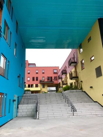 Oslo Sørenga Colors Colorful Architecture Building Exterior Built Structure Residential Building House No People Day City Outdoors Sky