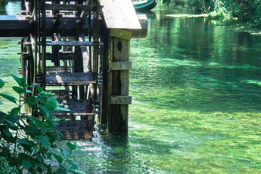 Water Nature Day Wood - Material No People Lake Outdoors Tranquility Beauty In Nature Waterfront Green Color Growth Built Structure Scenics Watermill Architecture Tree River Riverside Photography Japan Japan Photography