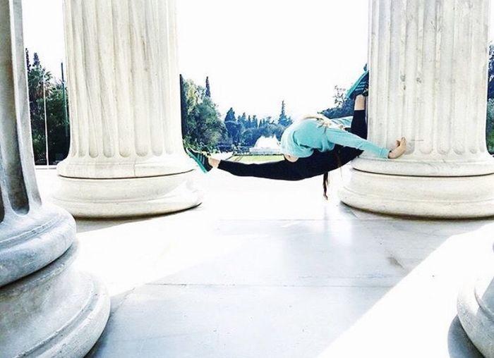 Gymnastics One Person Flexible Arch Rhythmic Gymnastics Greece Athens