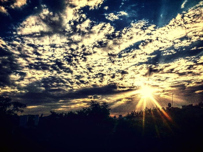 Hello World Gunbatimi Sunset HDR Clouds Gununkaresi Taking Photos Samsung Galaxy Note ıı Eye4photography  Gunes