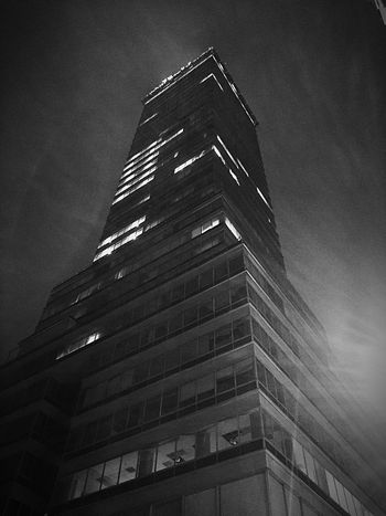 La Latino Building Exterior Low Angle View Architecture Built Structure No People Sky Modern Skyscraper City Outdoors Illuminated Nightphotography Night Lights