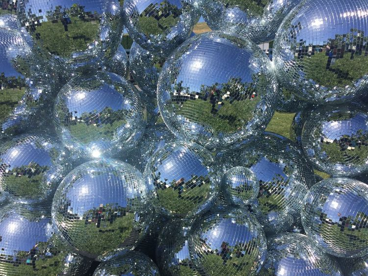 Celebration Illuminated Full Frame Modern Outdoors Disco Disco Ball No People Day Io17 Reflection