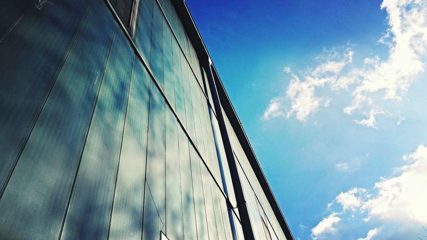 Building Buildings Sunshine Blue Sky Clouds