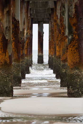 Low angle view of pier