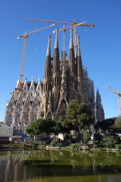Barcelona Church Famous Place Gaudi History International Landmark Sagrada Familia